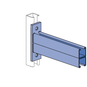 "Unistrut P2544-HG Channel Bracket, 1-5/8"", 24"" Length, Steel/HG"