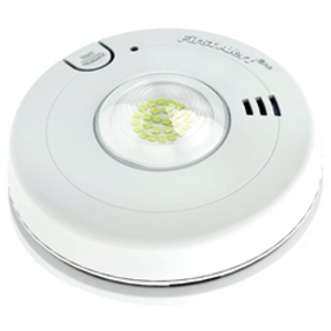 BRK-First Alert 1038335 Photoelectric Smoke Alarm & LED Strobe, 120VAC, Lithium Battery Backup