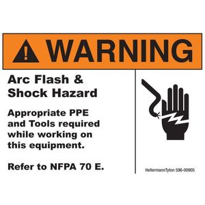 HellermannTyton 596-00905 Arc Flash Label