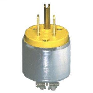 Leviton 515PA 15 Amp Armored Plug, 125V, 5-15P, Yellow, Commercial Grade