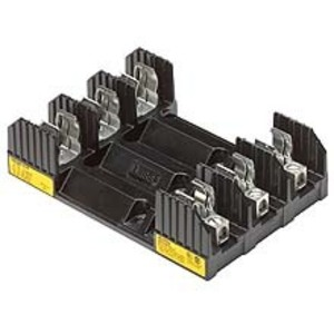Eaton/Bussmann Series H60100-2CR Class H Fuse Block, 2-Pole, 61-100A, 600V, Box Lug with Clip/Spring