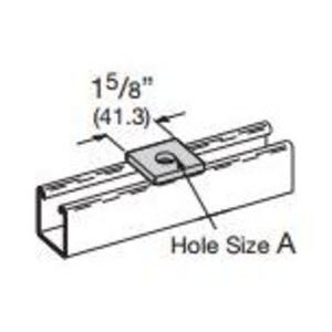 Eaton B-Line B202YZN SQUARE WASHER 9/16-IN. HOLE 1/2-IN. BOLT YELLOW ZINC