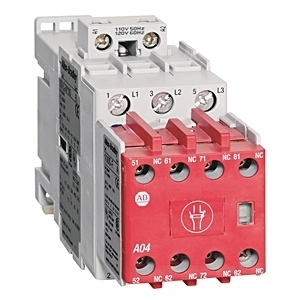 Allen-Bradley 100S-C09EJ32C Contactor, Safety, 9A, 24VDC, Coil, Contacts, 3NO, 3NO, 2NC