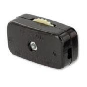 Leviton 423-3 Miniature Feed-Through Cord Switch, ON-OFF, Brown