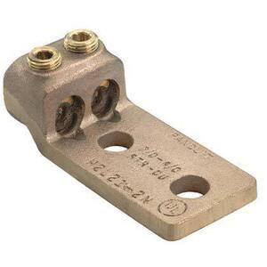 Panduit H2L4-2N-X Copper Mechanical Lug, 2 Hole, 2 Barrel,