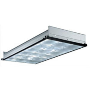 Lithonia Lighting PT3ALWMV Parabolic Recessed Fixture, 2 x 4', 3-Lamp, 18-Cell, 32W, 120-277V
