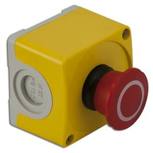 ABB CEPY1-1002 Emergency Stop Control Station, 2 N.C., Yellow/Light Gray