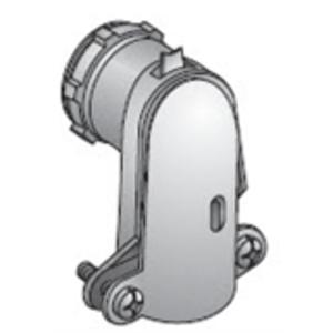 "EGS AC-985 AC/Flex Connector, 1-1/2"", 90°, 2-Screw Clamp, Zinc Die Cast"