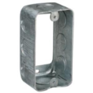 "Steel City 59361-3/4 Handy Box Extension Ring, 1-7/8"" Deep, 3/4"" KOs, Steel"