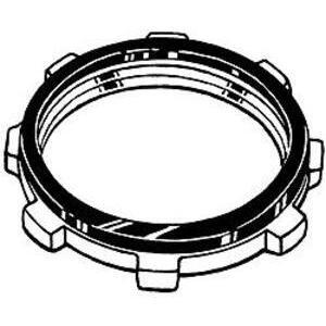 """Hubbell-Raco 1208 Sealing Locknut, Steel, 2"""""""