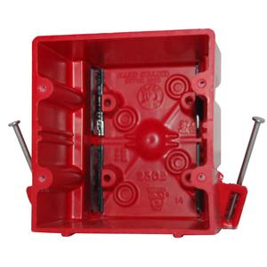 Allied Moulded 2302-NKRED 2-Gang, Nail-On, Fire Alarm Box