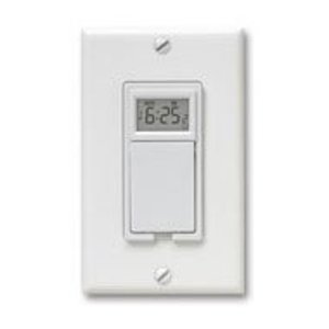 Aube Technologies TI035 Wall Switch, Programmable, Sunrise/Sunset, 20A, 120V, White