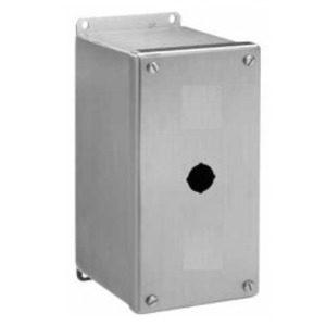nVent Hoffman E1PBXSS Enclosure, Pilot Device, 30 mm, 1 Hole, Stainless Steel
