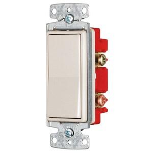 Hubbell-Bryant RSD415LA Four-Way Decora Switch, 15A, 120/277VAC, Light Almond