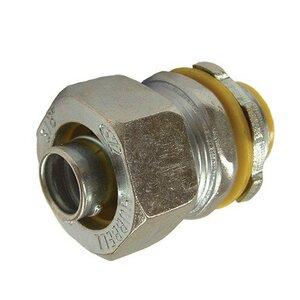 """Bizline BZL3511 Liquidtight Connector, Straight, 3/8"""", Steel"""