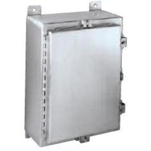 """Hubbell-Wiegmann ALN4202006 Enclosure, Wall-Mount, NEMA 4X, Hinge Cover With Clamps, 20 x 20 x 6"""""""