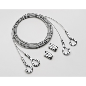 Lithonia Lighting IBAC240M20 Aircraft cable 20' with hook (one pair)