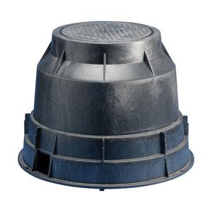 "nVent Erico T416C Round Pull Box, Diameter: 14-1/4"", Depth: 18-1/4"", Polyethylene"