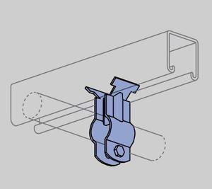 "Power-Strut PS3412EG Beam Clamp, Offset, 3/4"", Steel/Electro-Galvanized"