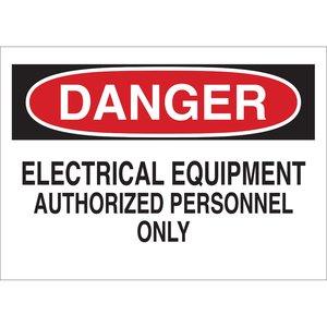 Brady 87754 Electrical Hazard Sign