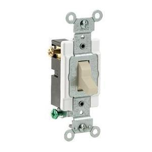 Leviton CS320-2I 3-Way Switch, 20 Amp, 120/277V, Ivory, Side Wired, Commercial Grade