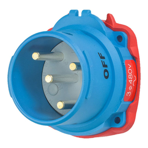 Meltric 63-38043 Pin & Sleeve Plug, 30A, 480V, DSN30 Series