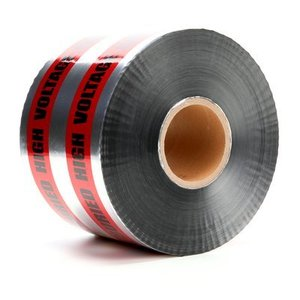 "3M 413 ""Caution Buried High Voltage Cable Below"" Barricade Tape"
