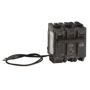 ABB THQL2120ST1 Breaker, 20A, 2P, 120/240V, 10 kAIC, Shunt Trip 120VAC
