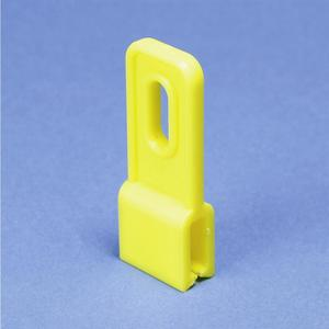 "Erico Caddy EC311P Drop Wire Clip, Hole Size: 1/4"", Yellow, Non-Metallic"