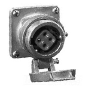 Cooper Crouse-Hinds AR342 Arktite Receptacle, Spring Door, 30A, 600VAC/250VDC, 4P3W