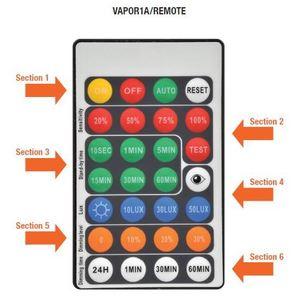 SYLVANIA VAPOR1A/REMOTE Infrared Remote Control for Sensor, Vapor Tight Luminaires