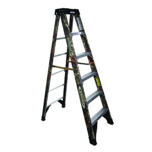 Werner Ladder 6206X9190 Camouflage Fiberglass Ladder, 6 Foot, 300 lbs.