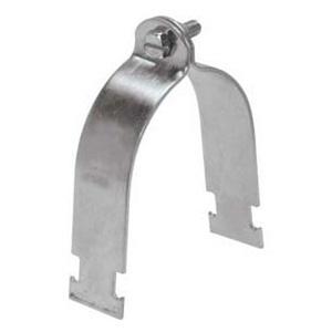 "Unistrut P1113-EG Rigid Strut Strap, 1"", Steel, Electro-Galvanized"
