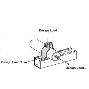"""Eaton B-Line B2012SS4 Rigid Conduit Clamp, 1-1/2"""""""