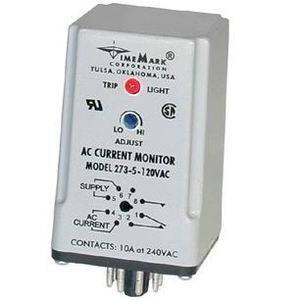 Time Mark 273-10-120 Current Monitor, 2-10A, 120VAC, 1W, Single Setpoint, 10A @ 240VAC