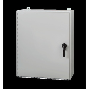 "nVent Hoffman A48H36DLP3PT Wall Mount Enclosure, 3-Point Latch, NEMA 4, 48"" x 36"" x 12"", Steel/Gray"