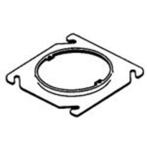 "Steel City 401-CS 4"" Square Fixture Cover, Mud Ring, 1/4"" Raised, Drawn, Metallic"