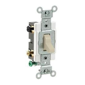 Leviton CS420-2I 4-Way Switch, 20 Amp, 120/277V, Ivory, Side Wired, Commercial Grade