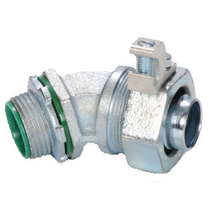 """Steel Electric Products SLT40-45ALT Liquidtight Grounding Connector, 45°, Insulated, Size: 2"""""""