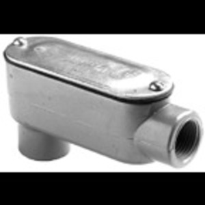"Bridgeport Fittings LB-41CG Conduit Body With Cover/Gasket, Type: LB, Size: 1/2"", Aluminum"