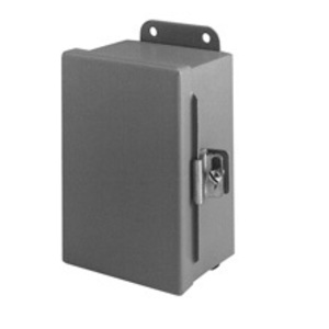 "Cooper B-Line 664-12CHC Junction Box, NEMA 12, Hinged Cover, 6"" x 6"" x 4"", Steel"