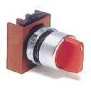 GE P9MSMI5N Selector Switch, 2 Position, Black, Knob, Momentary, Operator Only