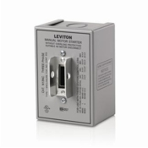 Leviton N13NC-DS Type 1 Enclosure (for use with 30 Amp Motor Starter Switches), Steel - GRAY
