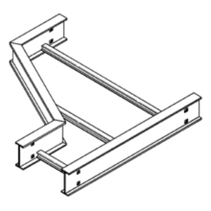"""Eaton B-Line 6A-36-LR12 Cable Tray Left Hand Reducer, Aluminum, 36"""" Wide"""