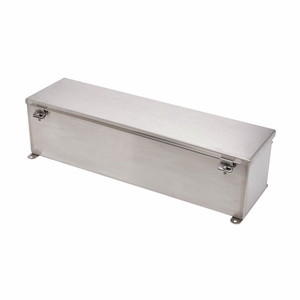 "Eaton B-Line 6648-4XSWT Wiring Trough, NEMA 4X, Screw Cover, 6"" x 6"" x 48"", Galvanized, No KOs"
