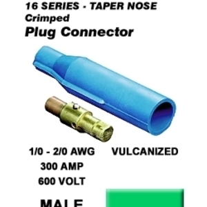 16V22-G GN MALE VULC PLUG TAPER NOSE