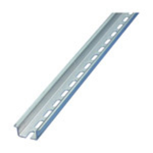 nVent Eriflex 557850 DIN Rail, Slotted, Zinc Plated Steel, 27mm x 7.5mm x 2m