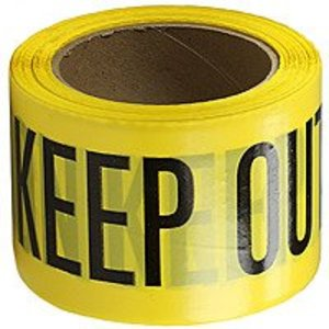 "Dottie BT13 3"" X 1000' Barricade Tape 3 Mil Keep Out - Yellow"