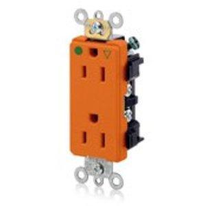 Leviton 16262-IG Hospital Grade IG Decora Duplex Receptacle, 15A, 125V, Orange *** Discontinued ***