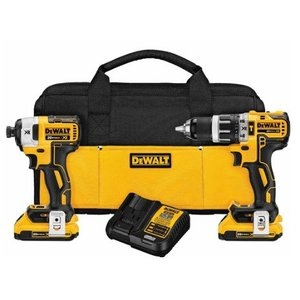 DEWALT DCK287D2 20V Lithium Ion Brushless Compact Hammerdrill and Impact Driver